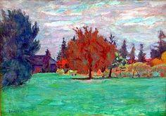 Pierre Bonnard - Arbre jaune, le clos au grand lemps-1913