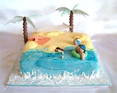 Cheap Chic: Inspiration for a Beach Cake