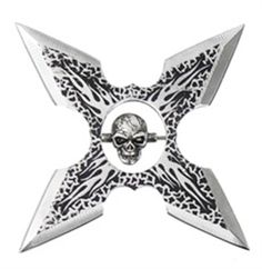Picture of Flare Skull Throwing Star Miguel Angel, Star Pictures, Love Pictures, Katana, Ninja Gear, Martial Arts Weapons, Double Picture, Flame Design, Ninja Weapons
