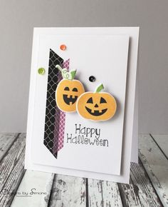 Halloween Pumpkins Card by Simone N - Cards and Paper Crafts at Splitcoaststampers