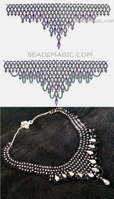 Free pattern for beaded necklace Vizantia | Beads Magic