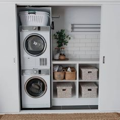 """Exceptional """"laundry room storage diy shelves"""" information is offered on our web pages. Check it out and you will not be sorry you did. room storage shelves 20 Brilliant Laundry Room Ideas for Small Spaces - Practical & Efficient Tiny Laundry Rooms, Laundry Room Layouts, Laundry Room Remodel, Laundry Room Organization, Laundry Room Design, Laundry Decor, Small Laundry Closet, Laundry Closet Makeover, Bathroom Laundry Rooms"""