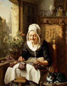 Josephus Laurentius Dyckmans (Bélgica, 1811-1888). Lacemaker