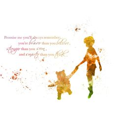 ART PRINT Winnie the Pooh Quote illustration, Disney, Home Decor,... ($12) ❤ liked on Polyvore featuring home, home decor, wall art, phrase, quotes, saying, text, disney, contemporary home decor and disney wall art
