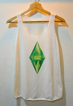 The Sims PlumbobIcon Game Sims Shirt Tank Top Vest Ladies Small Large