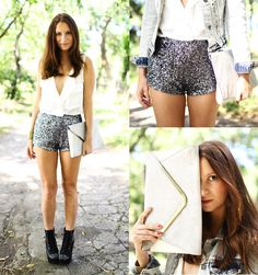 Sequin Shorts by Melanie Winter via lookbook.nu/tumblr Sequin Shorts, Passion For Fashion, Fashion Show, Short Dresses, Hair Beauty, Sequins, Street Style, Style Inspiration, My Style