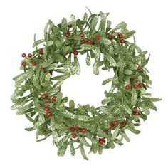Fantastic Craft Green Red Holly Berry Wreath 24Inch *** For more information, visit image link.