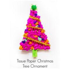 Tissue Paper Christmas Tree Ornament