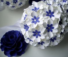 Pomander Handmade Paper Flowers Aisle by DragonflyExpression