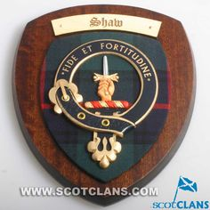 Clan Shaw Wall Plaqu
