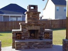 Another beautiful fireplace using a www.backyardflare.com construction plan.