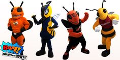 Mascot's Collection of Insects: Rockwell High School Yellowjacket, Montana State University Yellowjacket, Alvin Yellowjacket and Concordia University Stinger! Montana State University, Concordia University, Mascot Costumes, Insects, High School, Concept, Collection, High Schools, Secondary School