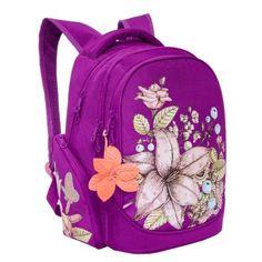 1a082953efd2 Рюкзак Grizzly Лилия для девочек Фиолетовый - купить в интернет магазине  Детский Мир в Москве и