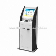 Bill Acceptor Kiosk Terminal with 17-inch Touch Screen and Thermal Printer Functions