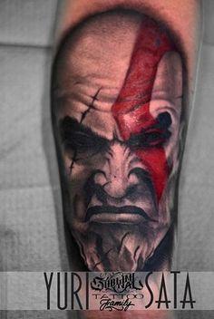 Work of Day (The Ghost of Sparta)  Tattoo Artist: #YuriSata  http://www.subliminaltattoo.it  #tatuaggiocartoon #subliminaltattoofamily #tattooartist   #tattooart   #tattoos   #tatuaggio