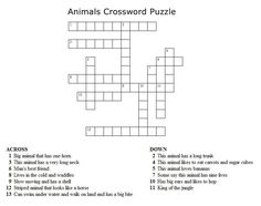 ... Crosswords on Pinterest | Reading street, Crossword puzzles and Pets