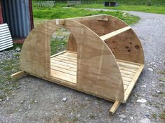The three basics of life for any animal are water, food and shelter. I decided to start with the shelter and build two traditional pig arks. Not only are they ideal for the job, providing plenty of… Pig Shelter, Sheep House, Goat Shed, Goat House, Goat Barn, Mini Pigs, Goat Farming, Hobby Farms, Dog Houses