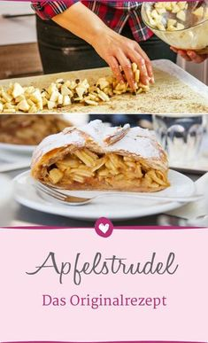 The classic apple strudel recipe from Vienna is simply a treat. # Recipe strudel The classic apple strudel recipe from Vienna is simply a treat. Biscuits Végétaliens, Breakfast Biscuits, Apple Recipes, Baking Recipes, Great Recipes, Desserts Drawing, Strudel Recipes, Best Pancake Recipe, Pancakes From Scratch