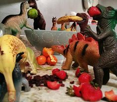 Welcome to Dinovember - this parent has his kids convinced that their plastic dinosaurs come alive at night - and has a great discussion on creativity. Great pictures, fun concept for kids and parents! Plastic Dinosaurs, Cool Dinosaurs, Dino Toys, Dinosaur Toys, Parents, November Month, Parenting Done Right, Kids Sleep, Parenting Humor
