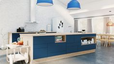 New Designa concept departs from classic modular kitchens House Colors, Kitchen Island, Storage, Classic, Furniture, Home Decor, Bricks, Berlin, Cabinets