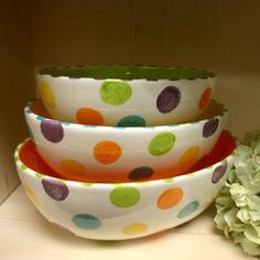 Polka Dotty Bowls by The Pottery Stop Gallery