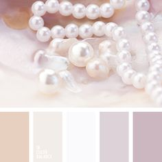Delicate shades of pearl simply created that would create a romantic, gentle, full of serenity and comfort, interior. This palette is perfect for bedrooms, living room, bathroom and kitchen.