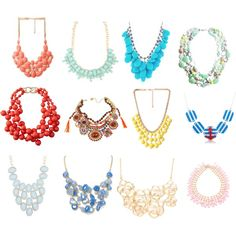 """""""SUMMER NECKLACES T-1 DYT"""" by dahtee on Polyvore"""