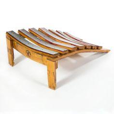 Zin Footrest | Zin Chair Furniture Wine Furniture, Rustic Furniture, Furniture Decor, Furniture Design, Outdoor Furniture, Automotive Furniture, Automotive Decor, Barrel Coffee Table, Crate And Barrel