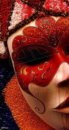 Carnival by ~nysta on DeviantArt - The masks are beautiful or creepy to me. This one = creepy