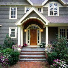 Front Door Entrance front door portico on the front door of luther burbank home late