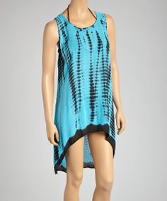 Take a look at the Black & Turquoise Hi-Low Dress - Women on #zulily today!