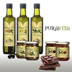 #immagine per prodotti PuraVita #olio #patè #adesivi #cioccolata