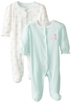 Rene Rofe Baby Baby-Boys Newborn Stars 2 Pack Footed Snap Front Coverall Set,Multi, 6-9 mos