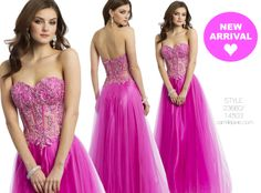 Camille La Vie Illusion Prom Dress with Tulle Skirt with Pink Fuchsia