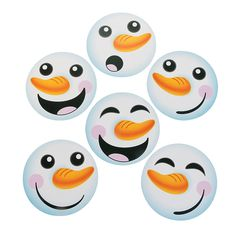 Use these to make Olaf treat bags -Snowman Face Bulletin Board Cutouts - OrientalTrading.com