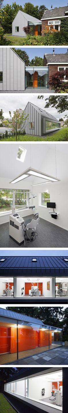 Dentista con vistas tira de imágenes