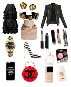 """FRIDAY lets take a brake..."" by inesdeaguiar on Polyvore featuring Balmain, Christian Louboutin, Chanel, Rolex and Casetify"