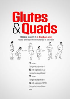 Popular targeted glute building workout No Strings Attached Quad Workouts At Home, Workout Routine For Men, Home Exercise Routines, Gym Workout Tips, Fit Board Workouts, Running Workouts, Workout For Beginners, Workout Challenge, Glutes Workout Men