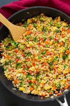 Who doesn't love fried rice? It's a classic Chinese take out side that no one can resist! This time around we are making it healthier by swapping out the w