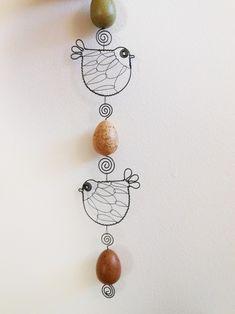 Závěs s ptáčky a vajíčkami - barevný