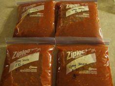 Freezer spaghetti sauce using garden tomatoes
