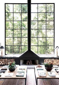 Window fireplace woodenstoreModern Scandinavian living