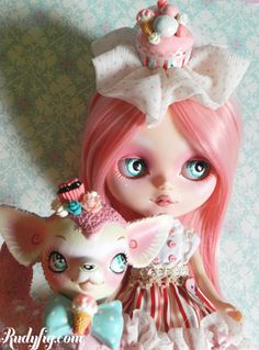 Cupcake Blythe Doll by Rudy Fig
