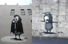 The skinny limbed, bubbly-bodied characters of Australian artist, Stormie Mills, have invaded the streets of Richmond, Virginia for the Richmond Mural project. Dracula for best in show? We think so.