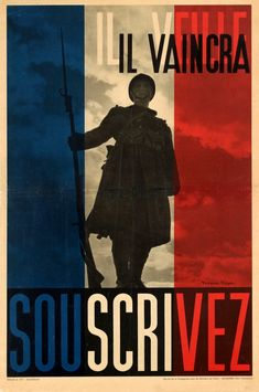 French propaganda poster - Second World War - WWII Vintage French Posters, Vintage Advertising Posters, Vintage Advertisements, Retro Posters, Ww2 Propaganda Posters, Political Posters, France, Military History, World War Two
