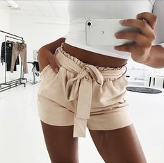 "3f7a1a42bed Americandreams on Instagram  ""Perfect summer shorts 🙌🏼💕 Nude color"
