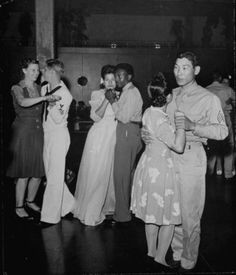 Dancing at the  Rainbow Club U.S.O. Hawaii, 1945.
