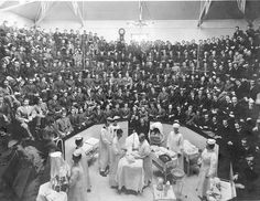 University of Pennsylvania dental students observing surgery in the Oral Surgery Clinic at the former Philadelphia General Hospital ~ 1910
