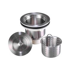 Stainless Steel (Silver) Basket Strainer (Stainless Steel)