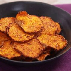 How to Make Oven-Roasted Sweet Potato Chips recipe | Health.com